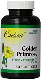 Carlson Labs Golden Primrose Evening Primrose Oil, 1300mg, 50 Softgels