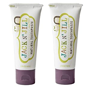 Jack N' Jill Natural Toothpaste, Blackcurrant, 1.76oz (Pack of 2)