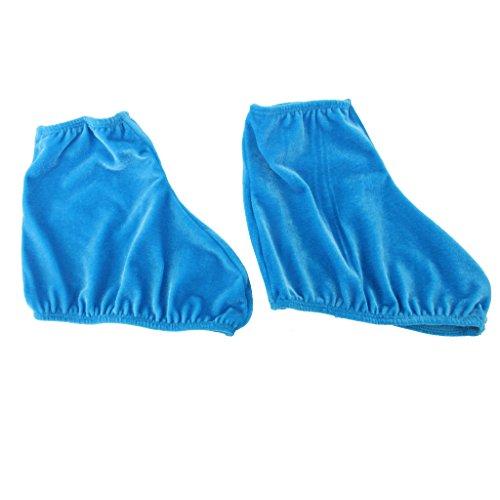 Paar-Samt-Wiederverwendbaren-Eislaufschuh-Dehnbaren-ueberschuhe-Koenigsblau-L