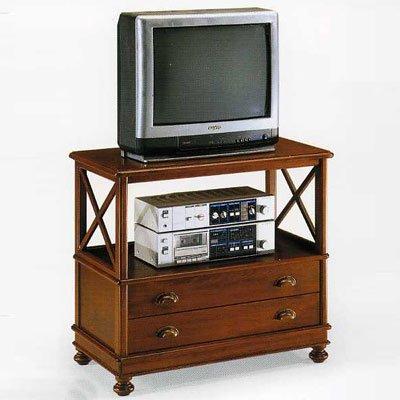 TV-Tisch aus Holz cm, 78 cm x 45 cm, Höhe 71, klassisch, hergestellt IN Italien