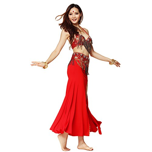 Pilot-trade Lady's 3 pics Tribe style Belly Dance Costume Dance Show Top&Belt&Skirt