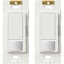 2-Pack Lutron Maestro Single Pole Occupancy Sensing Switch - White