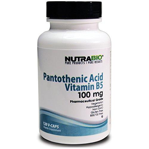 Nutrabio B5 Pantothenic Acid 100Mg 120 Vegetable Capsules