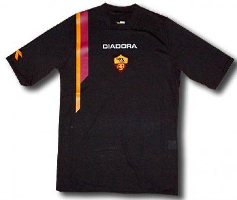 AS Roma training black shirt