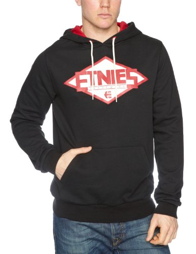 Etnies Pitcher Pullover Fleece Men's Sweatshirt Black X-Large