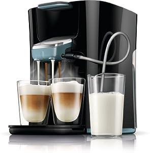 Philips Senseo HD7855/60 Latte Duo-Kaffeepadmaschine (2650 Watt, 1 L, Easy Clean-Taste) schwarz/blau