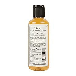 Khadi Herbal Hair Cleanser Satritha with Shikakai, Amla & Ritha 210 ml