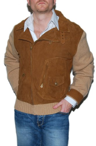 Polo Ralph Lauren Mens Cashmere Suede Leather Jacket XL