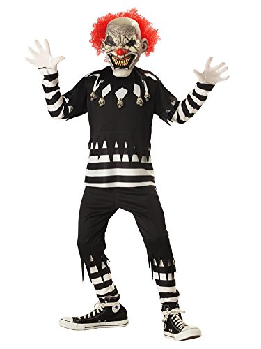 California Costumes Boys Creepy Clown Costume with Mask Large (10-12)