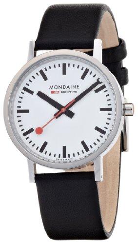 Mondaine - A660.30314.11SBB - Montre Homme - Quartz Analogique - Bracelet Cuir Noir