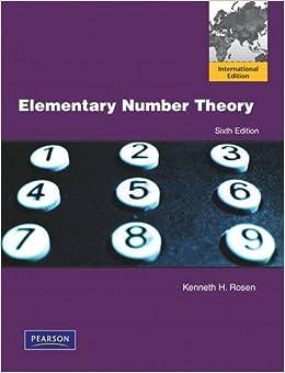 Elementary number theory pdf rosen