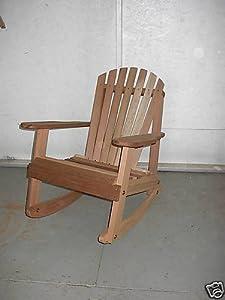 western cedar adirondack rocking chair