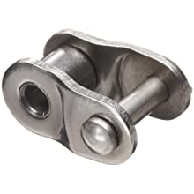 HKK Single Strand Connecting Offset Link, Riveted, Stainless Steel