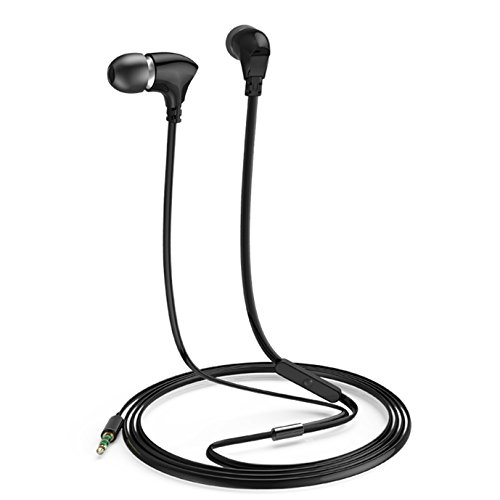 USTEK-K16-Ceramic-Earphones-with-Mic-In-ear-Headphones-Running-Earbuds-with-Microphone-Noise-Cancelling-Compatible-with-Apple-iPhone-Android-Smartphones-Black
