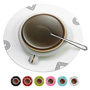 Amazon.com: Coffee Tea Cup Wall Clock Modern Design Home Decor ...