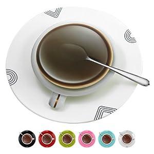 Amazon.com: Coffee Tea Cup Wall Clock Modern Design Home Decor ...