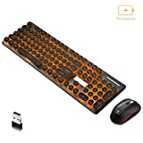Wireless Backlit Mute Keyboard and Mouse Combo,Support Charging,Waterproof (XM528 Black) (Color: XM528 black, Tamaño: 104)