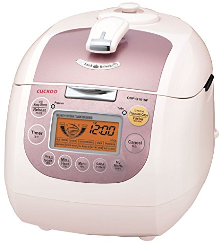 Cuckoo CRP-G1015F 10 Cup Electric Pressure Rice Cooker, 110v, Pink (Cockoo Rice compare prices)