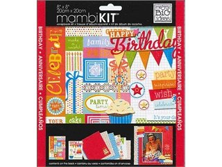 Me and My BIG Ideas PK-282 8-Inch by 8-Inch Scrapbook Page Kit, Happy Birthday Party
