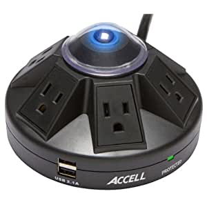 Accell D080B-015K Powramid 1080 Joules Surge Protector