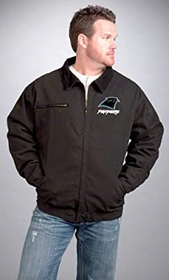 Carolina Panthers Jacket: Black Reebok Tradesman Jacket