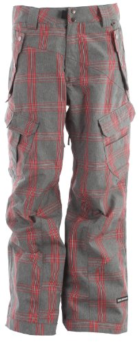 Ride Snowboards Men's Belltown Pant, Faded Grey Plaid, X-Large