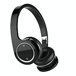 Nakamichi BTHP03 Series Bluetooth On-The Ear Headphones - Retail Packaging - Black