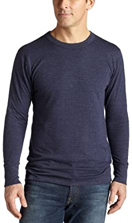 Duofold Men's Midweight Thermal Crew, Navy, Large