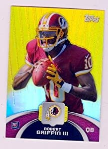 Robert Griffin III football card (Washington Redskins) 2012 Topps Refractor Chrome... by Autograph Warehouse