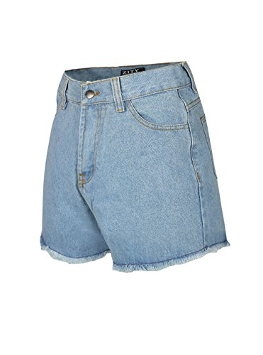 Zity Lady Women Retro Girl High Waisted Oversize Crimping Boyfriend Jeans Shorts Pant 2