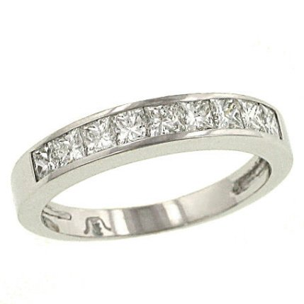 Diamond princess cut wedding sets