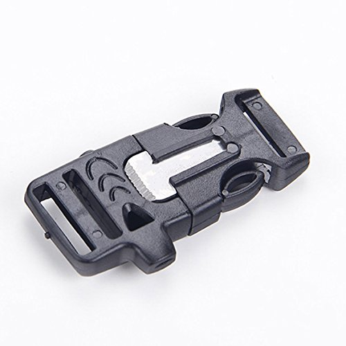 G-Jmd Side Survival Whistle Buckle Flint Fire Starter Scaper For Paracord Bracelet (10 Pcs)