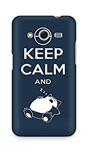 Amez designer printed 3d premium high quality back case cover for Samsung Galaxy Core 2 (Keep calm and)