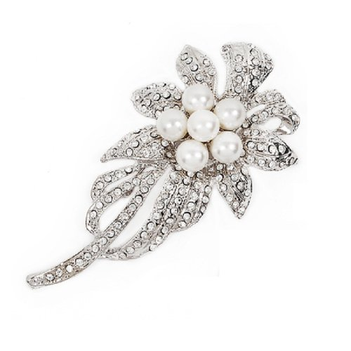 Flower with Pearl Brooch #025444