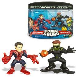 Buy Low Price Hasbro Spider-Man: Super Hero Squad Figures – Spider-Man vs. New Goblin (B000PC4Z18)