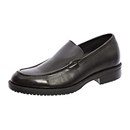 Shoes for Crews Men\'s Milan Leather Shoes 1204 Size 7 Black