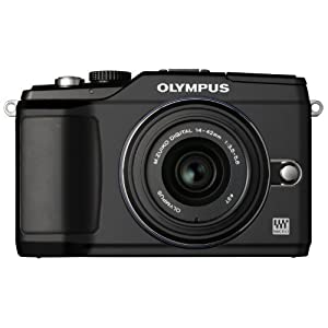 Olympus PEN E-PL2 12 MP CMOS Micro Four Thirds Interchangeable Lens Digital Camera with 14-42mm Lens (Black)