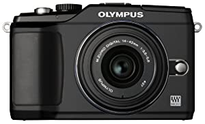 Olympus PEN E-PL2 12.3 MP CMOS Micro Four Thirds Interchangeable Lens Digital Camera with 14-42mm Lens (Black) (Old Model)