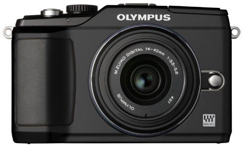 Olympus 262901 Pen E-PL2 12 MP CMOS Micro Four Thirds Interchangeable Lens Digital Camera with 14-42mm Lens (Black)