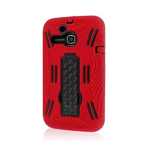MPERO IMPACT XL Serie Ständer Case Tasche Hülle für Alcatel ONETOUCH Evolve 5020T - Red