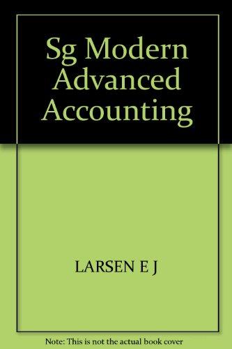 Sg Modern Advanced Accounting