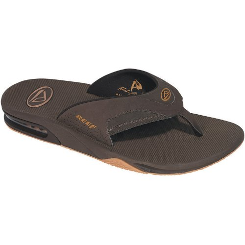 how to get reef men s fanning bottle opener sandals color brown gum size 15 turn is that for. Black Bedroom Furniture Sets. Home Design Ideas