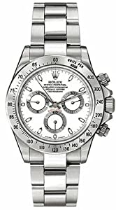 Rolex Daytona White Index Dial Oyster Bracelet Mens Watch 116520WSO