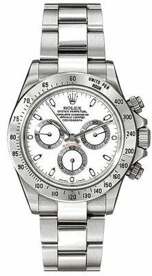 Rolex Daytona White Index Dial Oyster Bracelet Mens Watch 116520WSO