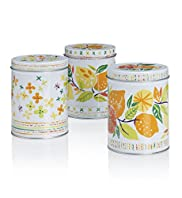 Lemons Tea, Coffee & Sugar Tins