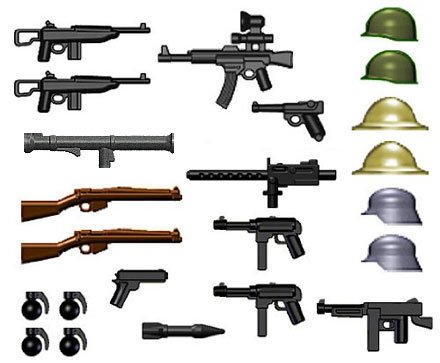 World War II Lego Compatible Weapons Pack