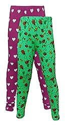 Little Stars Girls' Cotton Regular Fit Leggings- Pack of 2 (Po2Gpl_3208_28, Multi-Colour, 7-8 Years)