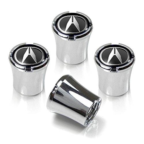 Acura Black Logo Chrome Tire Stem Valve Caps (Acura Tires compare prices)