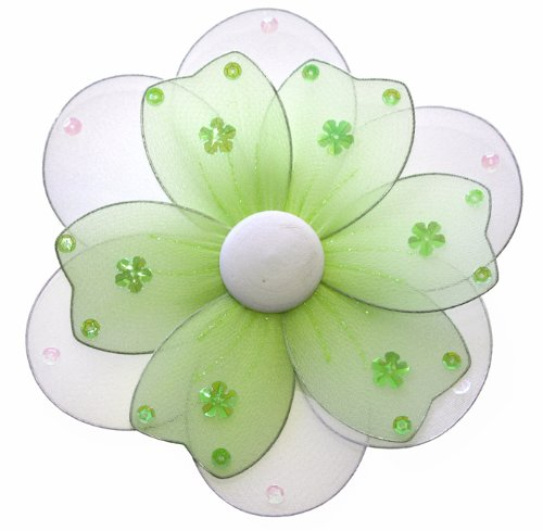 """Hanging Flower 16"""" X-Large Green Multi-Layered Nylon Daisy Flowers Decorations. Decorate For A Baby Nursery Bedroom, Girls Room Ceiling Wall Decor, Wedding Birthday Party, Bridal Baby Shower, Bathroom. Kids Childrens Daisies Decoration 3D Art Craft front-981580"""