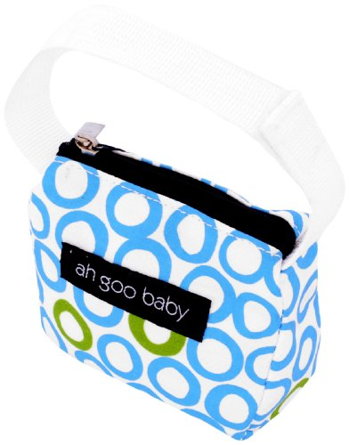 Ah Goo Baby Pacifier Holder and Tote, Bubbles in Water Pattern